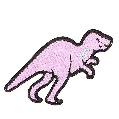 Parches bordados de dinosaurio para ropa, parches para planchar en la ropa, planchado, apliques de bricolaje, pegatinas para coser, insignias de tela, 5 uds.