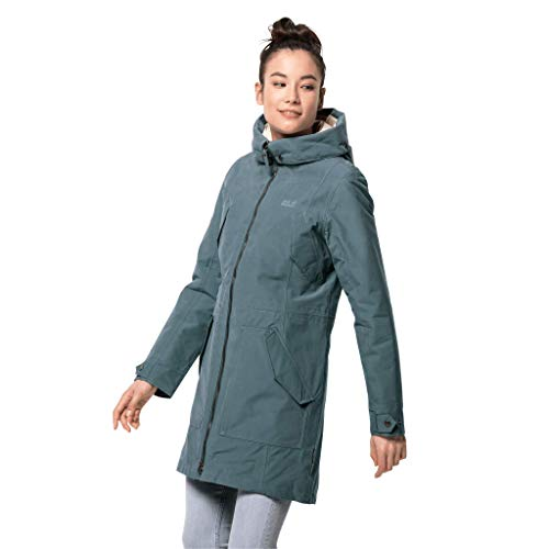 Jack Wolfskin Damen ROCKY POINT PARKA wasserdichte Winterjacke, North Atlantic, XS