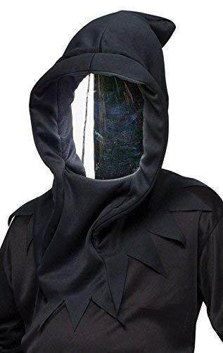 Fancy Me Noir Hommes À Reflets Mort Ninja Masque Halloween Accessoire Déguisement - One Size