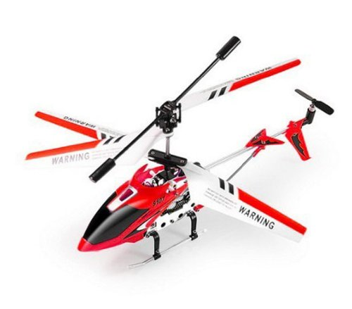 OnceAll Syma S107G 3 Channel Remote Control Helicopter with Gyroscope Red