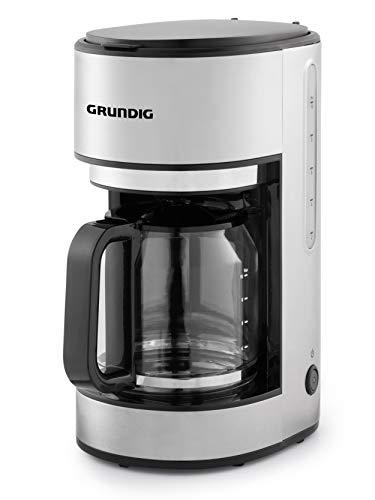 Grundig KM5620 ekspres do kawy, 1000 W, 10 filiżanek (1,25 l), 1000, stal nierdzewna/czarny