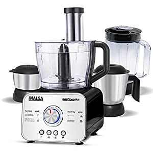 Multipurpose: Inox 1000 Plus is an all in 1 food processor that can replace several other appliances such as Blender, Juicer, Whisker, Kneader, Grinder, etc. from your kitchen. Pre-Set Modes: No need to scratch your head when you want to use differen...