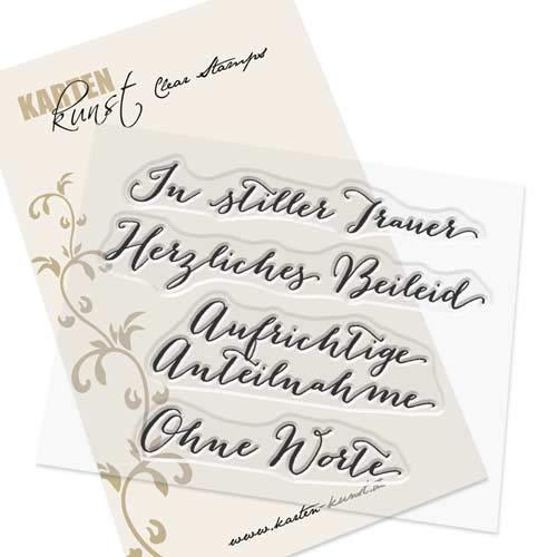 Clear Stamp-Set Stempel-Gummi - Karten-Kunst Große Worte In Stiller Trauer