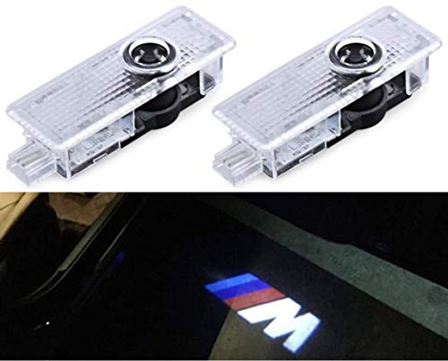 SMP® 2X BMW M Logo Tür Projektor für BMW, LED Willkommens-Licht mit BMW M Emblem - Türbeleuchtung - Einstiegsleuchten - Geist Schatten Lampe - 63312414105-63316972605