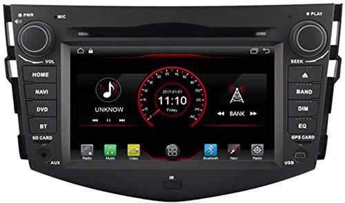 FWZJ Autosion Android 10 Car DVD Player GPS Stereo Head Unit Navi Radio Multimedia WiFi para Toyota RAV4 2006 2007 2008 2009 2010 2011 2012 Soporte Control del Volante