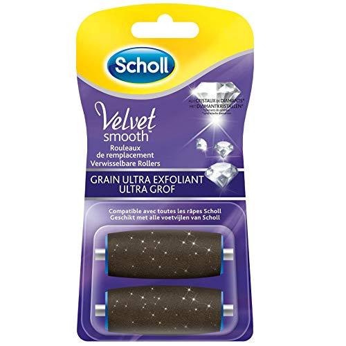 Scholl Velvet Smooth - Rouleau de Remplacement Grain Ultra Exfoliant pour Râpe électrique - 2 recharges