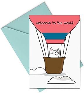 Biglietto d'auguri - welcome to the world - nascita - bambini - benvenuto - gli stampati- biglietto d'auguri (formato 15 x...