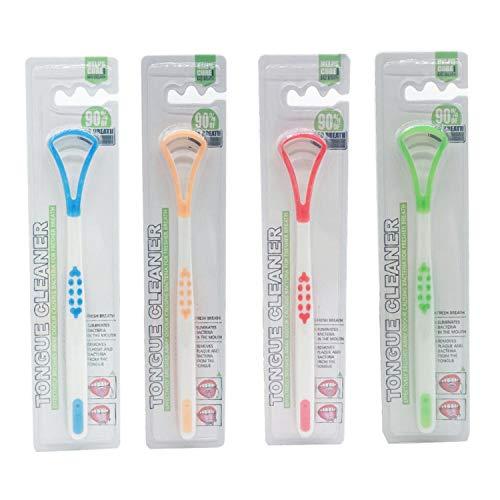 4 Piezas Cepillo para lengua limpiador de lengua, rasquetas