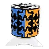 Oostifun MO Fang GE Gear Cylinder Cube 3x3x3 Puzzle Cube 3D Puzzle Smooth Puzzle Smooth Cube Twist Puzzle con un trípode de Cubo (Negro)