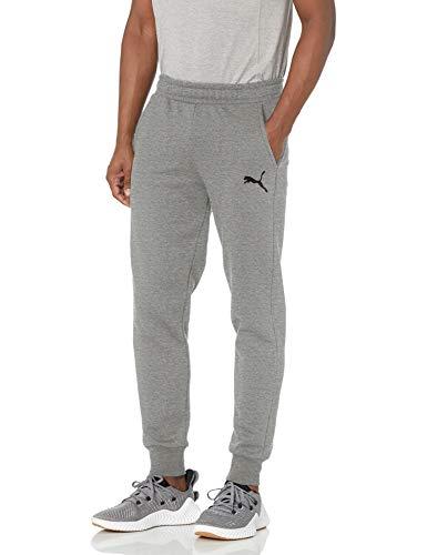 PUMA Men's Essentials Fleece Pants, Medium Gray Heather, L