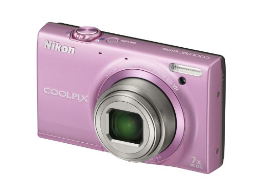 Nikon Coolpix S6150 Digitalkamera (16 Megapixel, 7-fach opt. Zoom, 7,5 cm (3 Zoll) Bildschirm, HD-Video, bildstabilisiert) pink