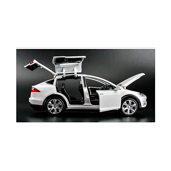 diecast car,1:32 zinc alloy model x cars with light and music pull back cars 4 to12 year kids toy cars boy gifts (white)