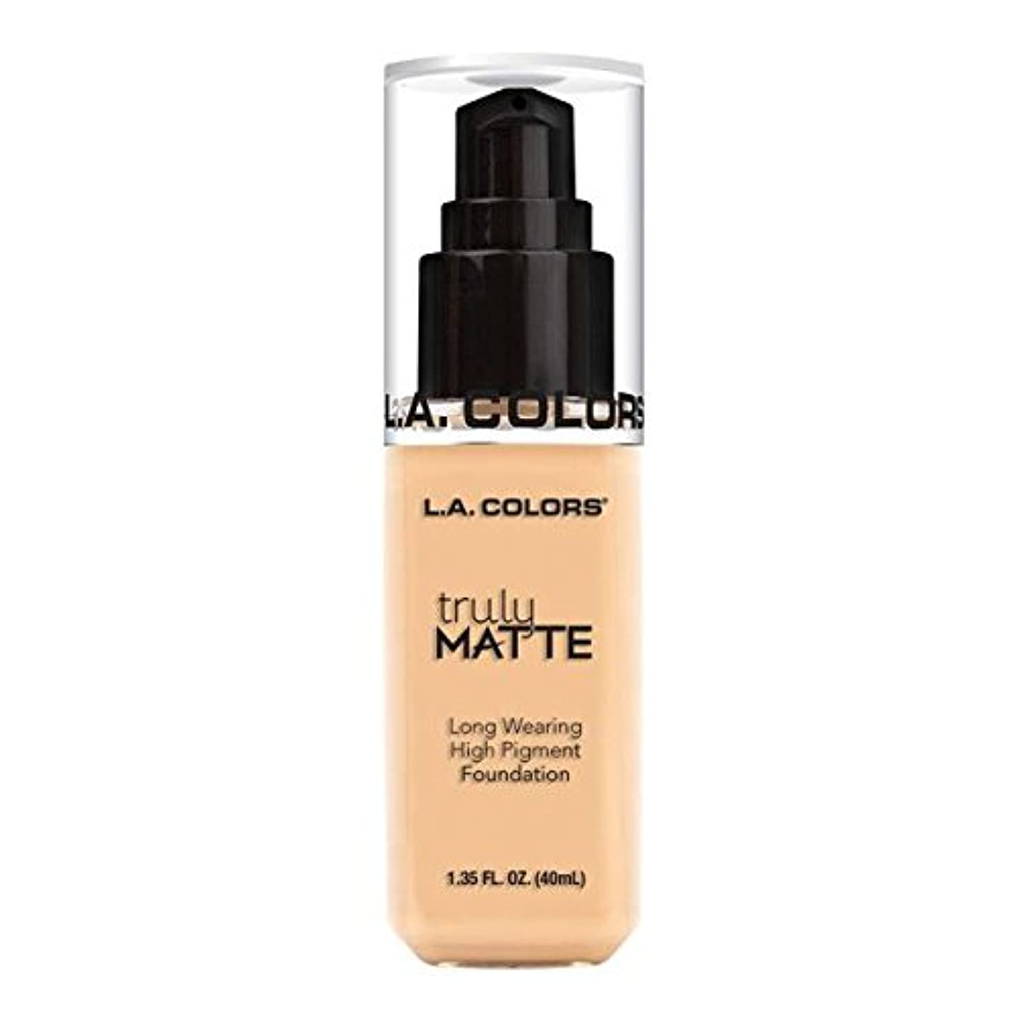 隣接する量でボイド(6 Pack) L.A. COLORS Truly Matte Foundation - Porcelain (並行輸入品)