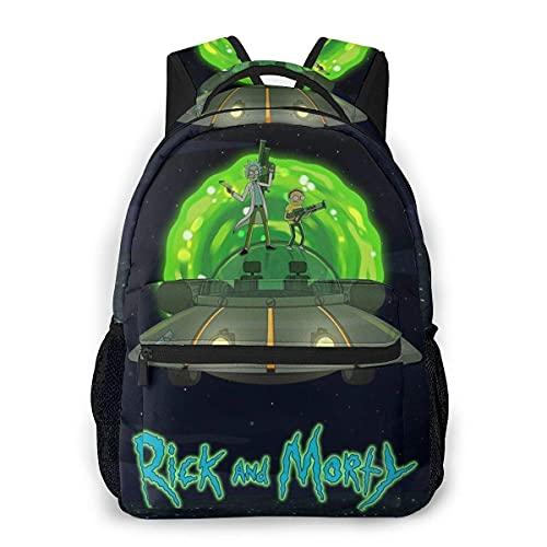 Huatongxin Mochila para estudiantes Rick Morty escolar para niños divertida Super Daypack