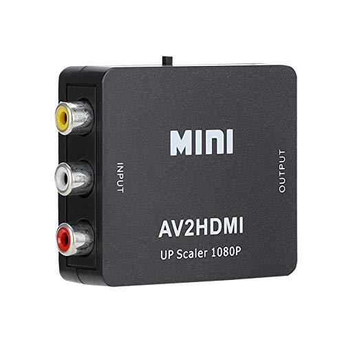 Sutinna USB Video Converter, AV zu HDMI Konverter, Mini für VCD Game Console DVD Decoder(Black)