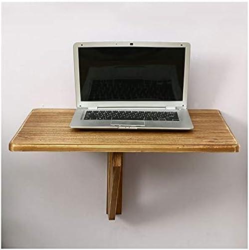 LQQGXLPortabler Klapptisch Klapptisch aus massivem Holz, an der Wand befestigter Schreibtisch einfacher Computertisch, Kiefer Schreibtisch, (Größe   60  40CM)