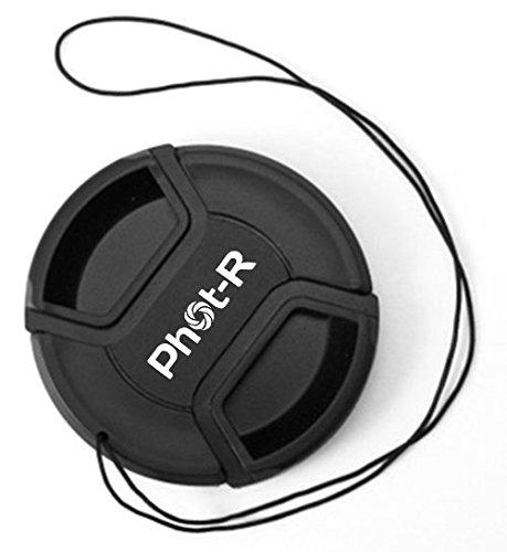 Phot-R 77mm Zentrum Pinch Snap-on Objektivdeckel mit Halteband, Kamera-Schutzdeckel für Canon, Nikon & Sony DSLR & spiegellose Kameraobjektive