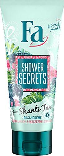 Fa Shower Secrets von Shanti Duschgel, Mandelmilch und Wassermelone, 6er Pack (6 x 200 ml)