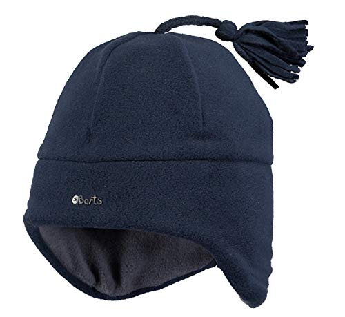 Barts Babymütze Fleece Navy Dunkelblau mit Bommel 4322203 Fleece Earflap Infants Heather greyr 47
