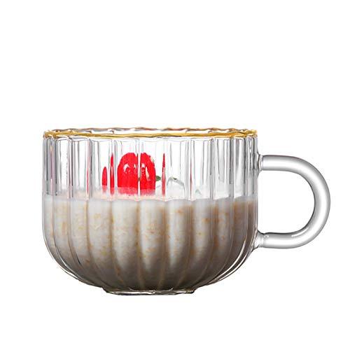 Copa de Espresso Tazas de Vidrio Transparente Tazas, Tazas Grandes/Taza Grande/Taza de Cereal Jumbo/tazones de Sopa/Taza de Helado/tazones de Yogur/tazones de Yogur/Cuencos/Crema Plato