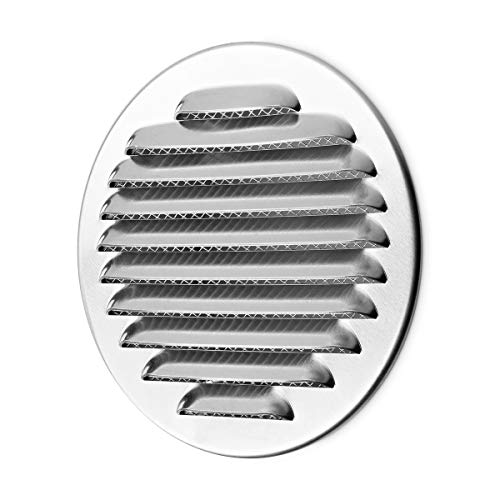 Klimapartner WSGR 80 - Circolare di Acciaio Inossidabile Griglia Ventilazione della Copertura