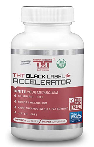Black Label Accelerator | Designed for Toning and Slimming | Stimulant Free Diet Pill for Men and Women (60 Capsules)