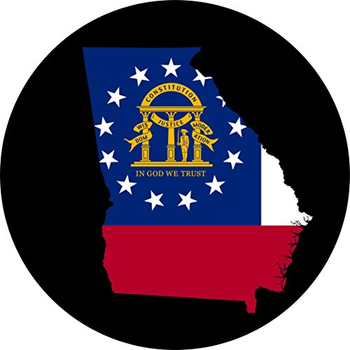 Georgia Flag Spare Tire Cover for Jeep RV Camper Trailer etc(Select Popular Sizes from Drop Down menu or Contact us