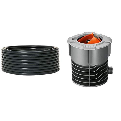 Gardena Sprinklersystem Verlegerohr: Zentrale Leitung für Pipeline, 10 m lang & Sprinklersystem Anschlussdose: Systemanfang von Pipeline und Sprinklersystem, mit 3/4 Zoll-Außengewinde Anschluss