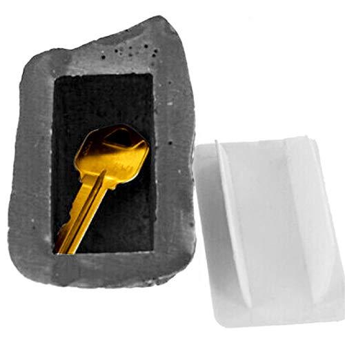 TXSD Hide-a-Spare-Key Fake Rock sieht aus wie echter Stein sicher für Garten oder Hof im Freien, Geocaching