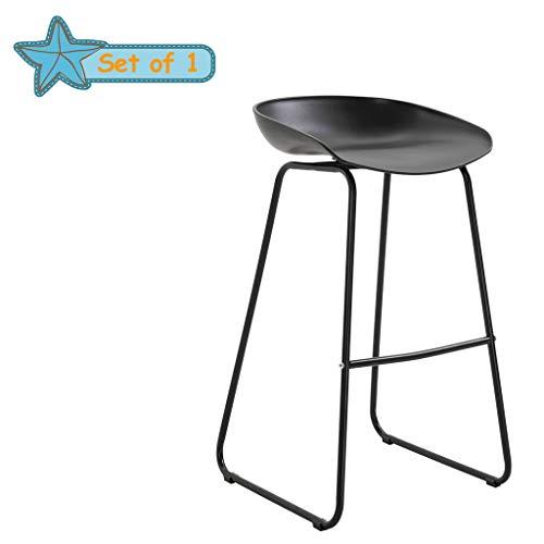 Eenvoudige barkruk, hoge kruk thuis, PP milieukussen, fijn smeedijzeren lassen, Geschikt voor Bar Cafe (zithoogte: 60/70cm)