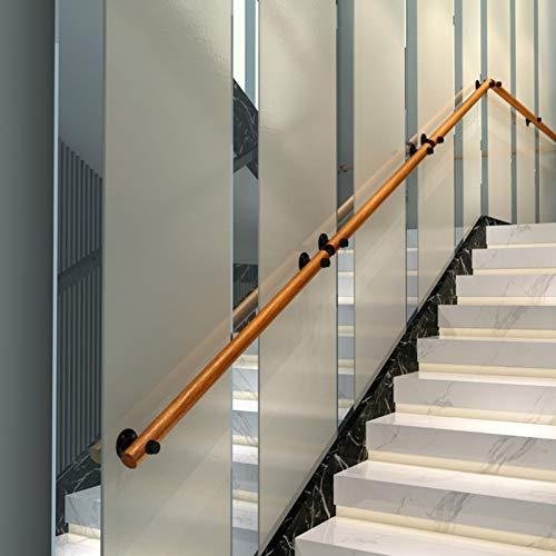 Pasamanos Juego Completo de Pasamanos de Madera, Barandilla de Madera de Seguridad de Escalera de Desván para Niños Mayores de Interior Al Aire Libre con Soporte de Metal (Size : 2.8m(9.2ft))