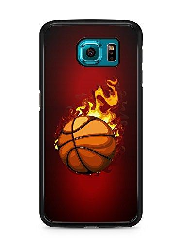 Carcasa para Samsung Galaxy S6, diseño de baloncesto con bordes negros