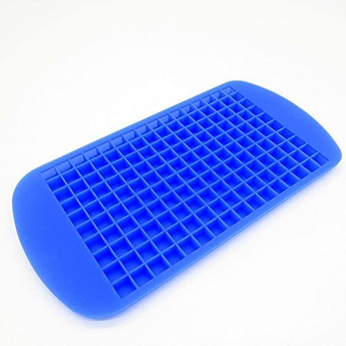 Molde De Hielo 2 Piezas De Silicona Molde De Bandeja De Hielo De 160 Compartimentos Mini Caja De Hielo Cuadrada Azul
