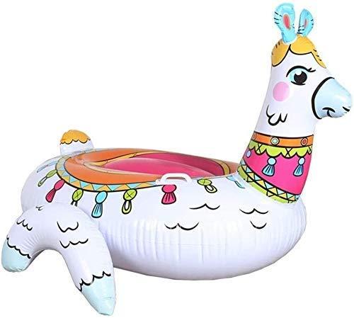 GUILAN Fila Flotante Inflable Piscina Inflable Plegable, Piscina de Agua con colchón Inflable, Fila Flotante Modelo de Alpaca, Juguetes inflables de Playa Juguetes de Fiesta f