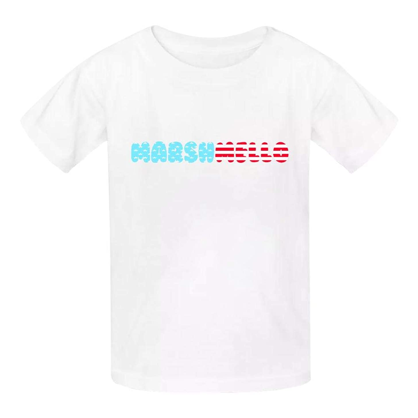 TIFOUTY Youth 4th of July Marsh-Mello New Merch 3D Print Crew Neck Short Sleeve T-Shirts Casual Soft Tee