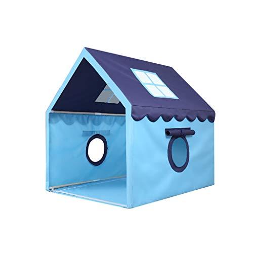 XZGang Indoor Kinderspielzelt, Kinderleseecke Movable Zelt Mädchen Zelte Boy Zelte/Blau, Rosa/Stable Massivholz-Bracket Raum für Kinder (Color : Blue, Size : 100 * 126 * 120cm)