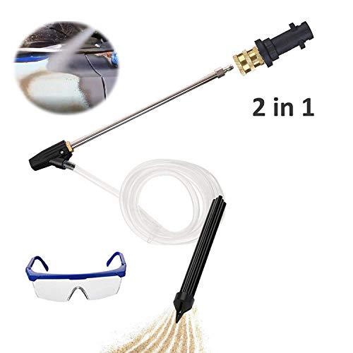 AgiiMan Pressure Washer Sandblasting Kit - 3200 PSI Sand Blaster Gun Attachment, 2 in 1 Quick Connector with Karcher Adaptor