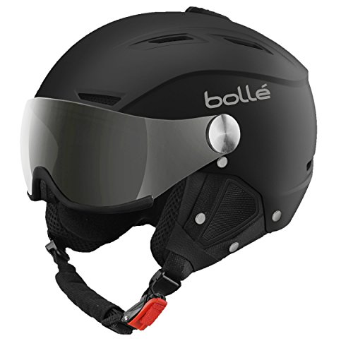 Bollé Skihelm Backline Visor Soft With 1 Gun und Lemon, Black, 56-58 cm, 31155