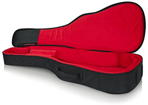 Gator Cases Transit Series Acoustic Guitar Gig Bag; Charcoal Black Exterior (GT-ACOUSTIC-BLK)