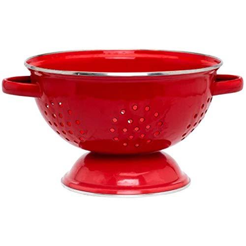 Zeef Zeef Food, Fruits Basket Ontwerp Retro Enamel, Sink Créatif Voor Rijst in Groenten Fruit Salad, Keuken Tool Gift,Red