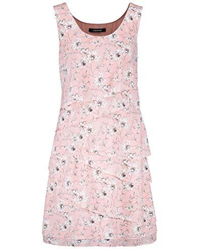 Taifun Damen Kleid Mit Blumen-Print Figurumspielend Pearl Blush Gemustert 44