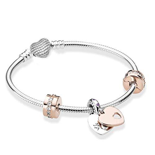 Pandora Armband – Armband im Pandora-Stil – Armband im europäischen Stil (20, CRISTAL20)