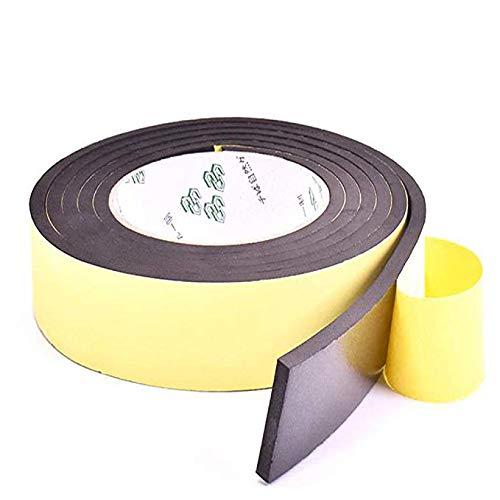 Storystoreスポンジテープ クッションテープ 戸当たりテープ 薄い 隙間すきまテープフォームテープ EVA 発泡ゴム 衝突防止 防振防風防音 ドア 窓幅50mm×長10M×厚3mm(50mm*10M, ブラック)