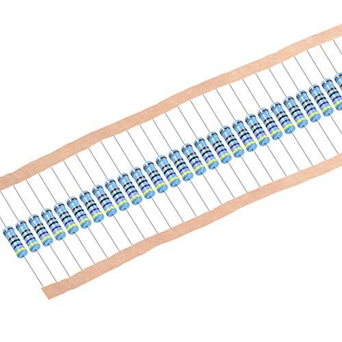 Sourcing Map 30 Stück 4,7 K Ohm Widerstand, 2 W 1{37fadb5952add5ca37ea0cc856cea8b4c88f38258784b19c133ff26ca172ce73} Toleranz Metallschichtwiderstände, Axialkabel, 5 Bänder für DIY elektronische Projekte und Experimente