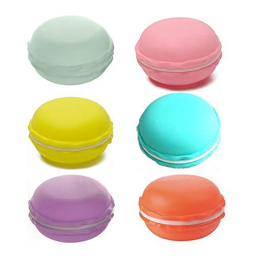 Limeow Mini Macarons Case Box Macaron Opbergdoos Snoep Kleur Macarons Doos Ronde Pill Box Houder Case Sieraden Ringen Oorbellen Organizer voor Reizen Mini Snoep Kleur Duurzame Container 6 Stks