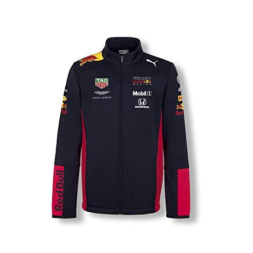Red Bull Racing Official Teamline Softshelljacke, Blau Youth Größe 140 Übergangsjacke, Racing Aston Martin Formula 1 Team Original Bekleidung & Merchandise