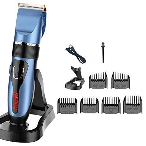 Tenflyer haarschneidemaschinen Herren, professionelle Haarschneidemaschine Kit Schnurloser Bartrasierer Elektrischer Haarschnitt mit Kämmen LED-Anzeige Männer