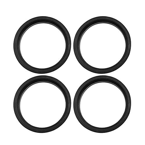 X AUTOHAUX Car Hub Centric Rings Wheel Bore Center 66.6 to 57.1mm - 4pcs Black Plastic