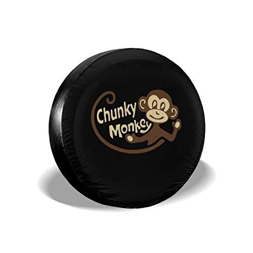 GOSMAO Chunky Monkey - Cubierta de neumático Ajustable con Protector Solar Impermeable de 16 Pulgadas, Adecuada para automóvil, SUV, RV, Remolque, Cubierta de Rueda de neumático de 16 Pulgadas