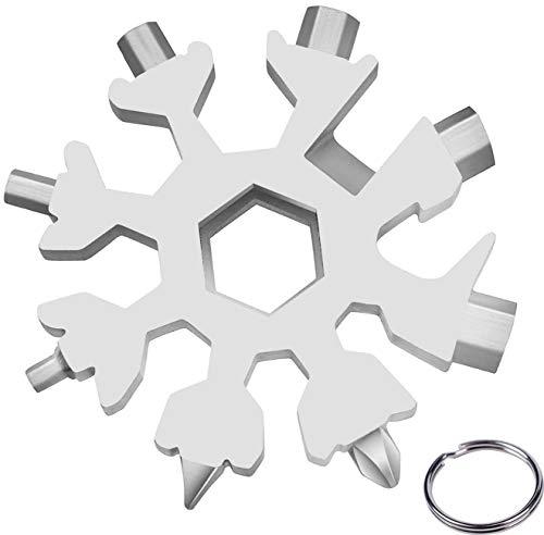 18-in-1 Multi-Tool Snowflake,Attrezzo Utensile Multifunzione Acciaio Inox...